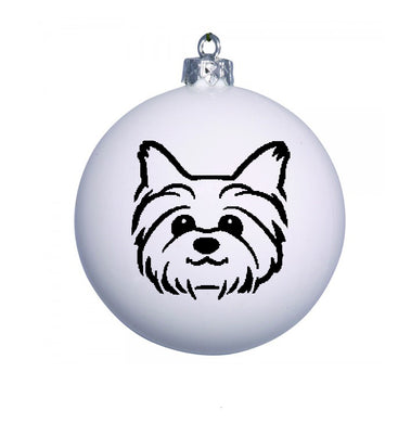 Personalised Christmas Bauble with YORKIE image