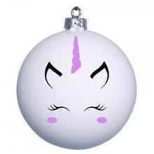 Personalised Unicorn bauble - purple cheeks and horn