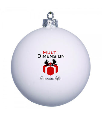 Personalised Christmas bauble with logo