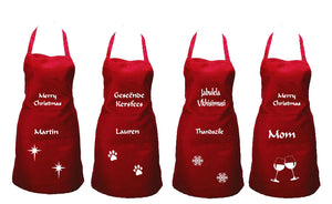 Personalised Christmas Apron. Various designs.