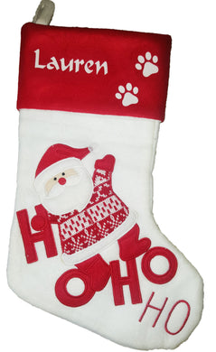 Personalised Christmas stocking - HO HO