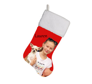 Personalised Christmas Stocking with your photo