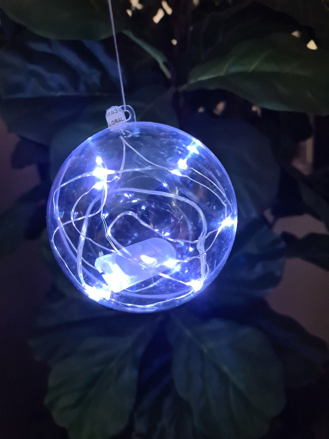 Clear balls with LEDs