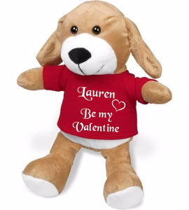 Valentine plush puppy