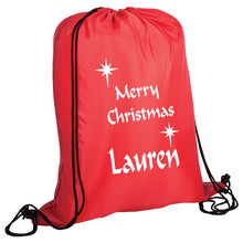Personalised Christmas Drawstring bag