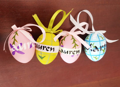 Personalised Easter Eggs