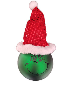 Grinch bauble with hat