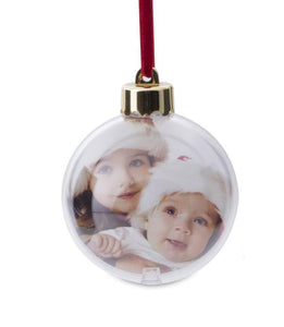 Personalised Photo-bauble Clear