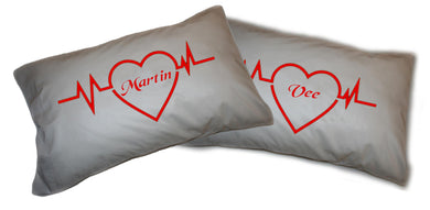 Personalised Valentine Pillowcases