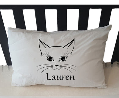 Personalised Pillowcase - CAT image