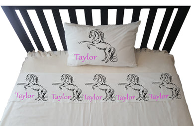 Personalised Pillowcase - HORSE