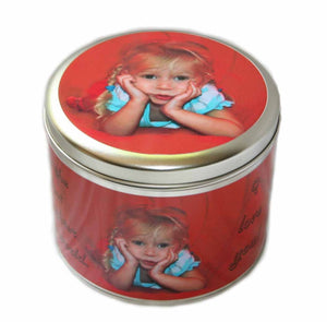 Personalised photo tin - cookie tin