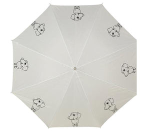 Personalised umbrella with Daxie image