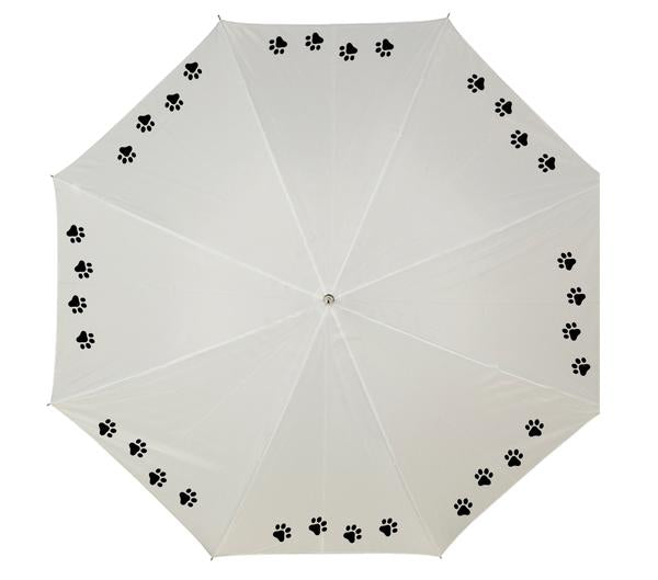 Personalised umbrella with paw prints
