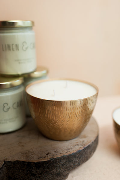 16 oz Soy Candle in Gold Vessel
