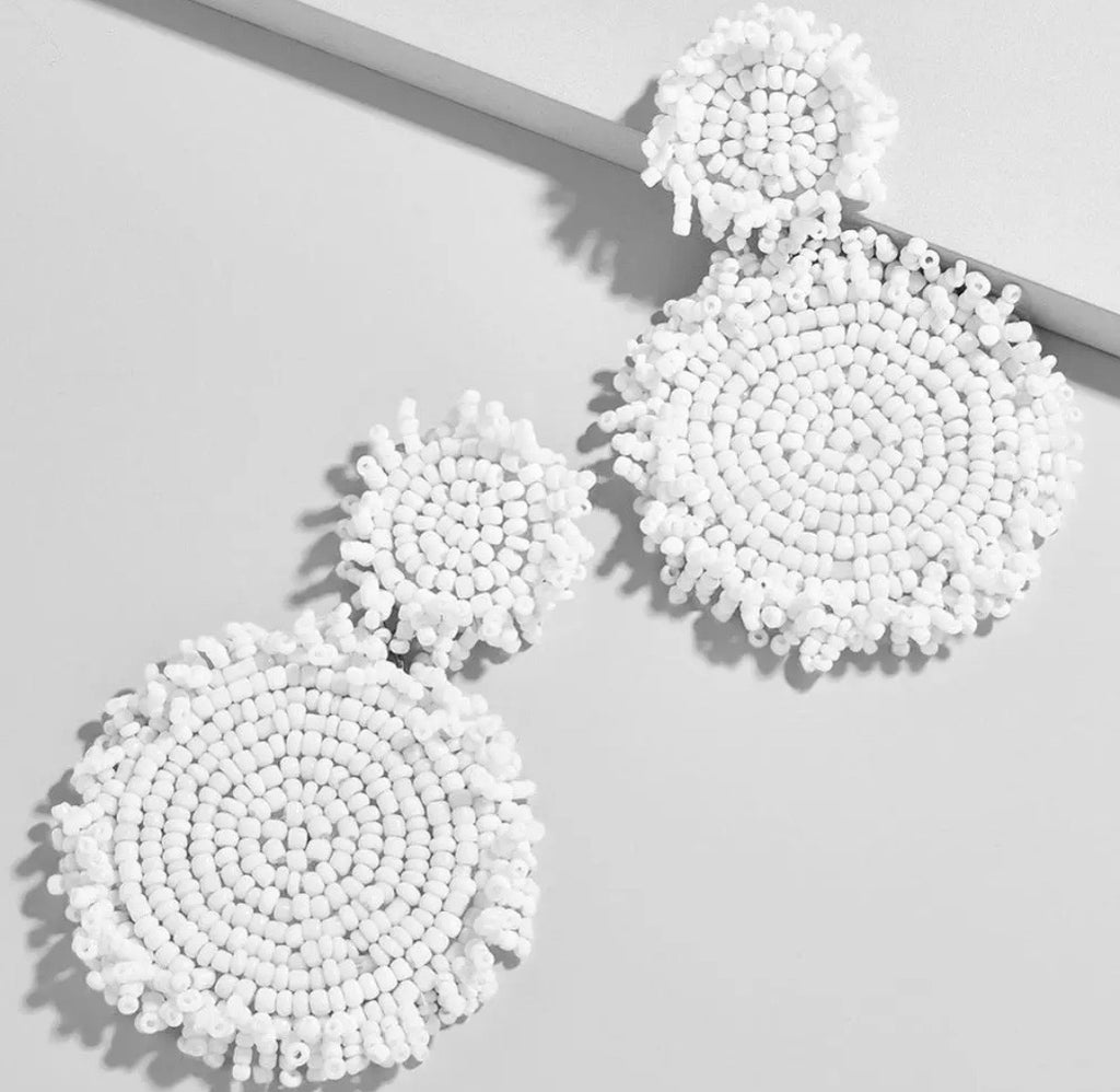 Cooper and Lucy Beaded Earrings - White
