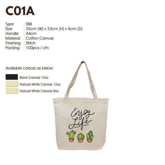 IPC01A | Canvas 12oz | Landscape | A4 Size | Stitch | Printing | - EWC WAWASAN ENTERPRISE