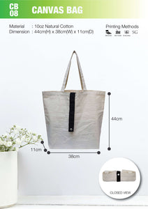 MGCB 08 | Canvas 10oz | Stitch | A3 Size | Foldable bag | Printing | - EWC WAWASAN ENTERPRISE