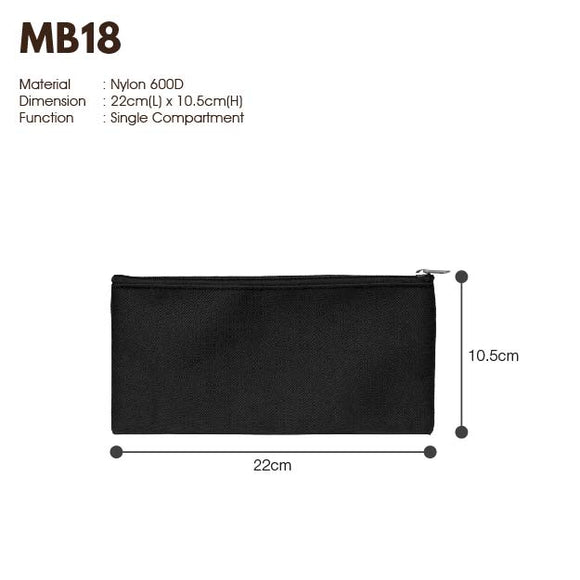 MGMB 18 | 600D | Multipurpose Bag with Zip | A5 Size | Plain | - EWC WAWASAN ENTERPRISE