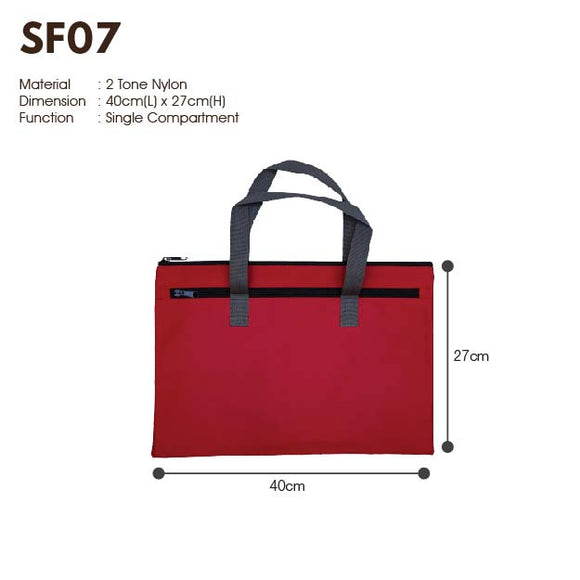 MGSF 07 | 600D | Seminar Folder with Zip | A4 Size | Plain | - EWC WAWASAN ENTERPRISE