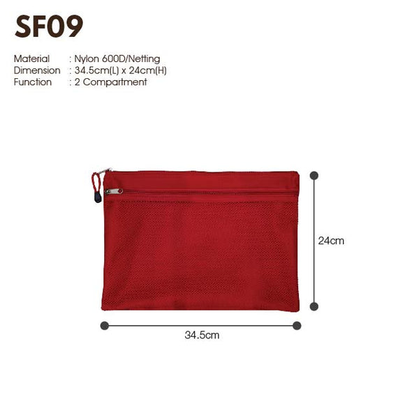 MGSF 09 | 600D | Seminar Folder with Zip | A4 Size | Plain | - EWC WAWASAN ENTERPRISE