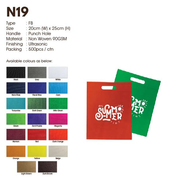 IPN 19 | Non Woven 90gsm | Flat | A5 Size | Punch Hole | Ultrasonic | Printing |