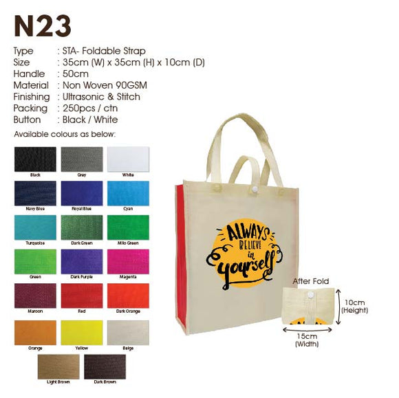 IPN 23 | Non Woven 90gsm | Stitch | A3 Size | Foldable Strap | Printing |