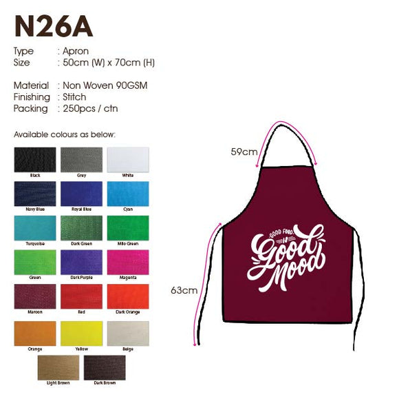 IPN 26A | Non Woven 90gsm | Apron | Stitch | Printing |