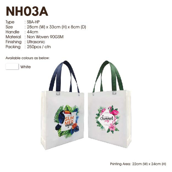 IPNH 03 | Non Woven 90gsm | A4 size | Ultrasonic | Sublimation Color | Printing | - EWC WAWASAN ENTERPRISE