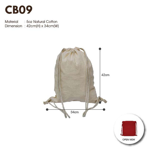 MGCB 09 | Canvas 5oz | Stitch | Drawstring Bag Pack | A3 Size | Plain |