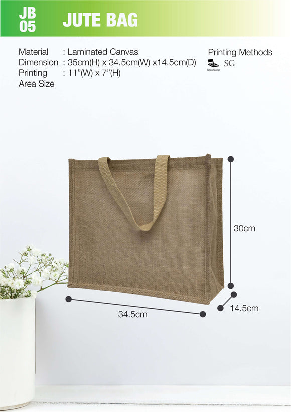 Empty bag | Ready Stock | Laminated Jute | Stitch | A3 Size | Lanscape | - EWC WAWASAN ENTERPRISE