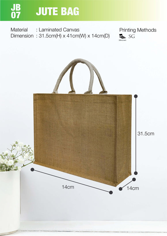 Empty bag | Ready Stock | Laminated Jute | Stitch | A3 Size | Landscape | - EWC WAWASAN ENTERPRISE