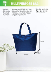 Included Printing | Ready Stock | Nylon | Shopping bag with button | A3 Size | - EWC WAWASAN ENTERPRISE
