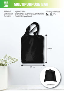 Included Printing | Ready Stock | Nylon | Foldable bag | A3 Size | - EWC WAWASAN ENTERPRISE