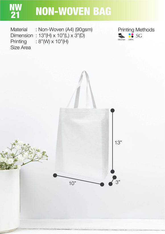 Empty bag | Ready Stock | Non Woven 80gsm | A4 Size | Ultrasonic | - EWC WAWASAN ENTERPRISE
