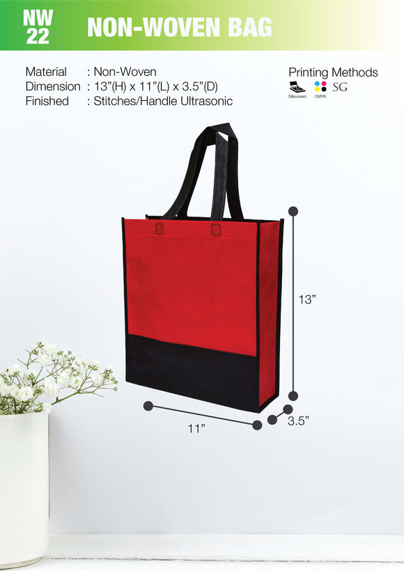 Empty Bag | Ready Stock | Non Woven bag 90gsm | A4 Size | Stitch | 2 ply | - EWC WAWASAN ENTERPRISE