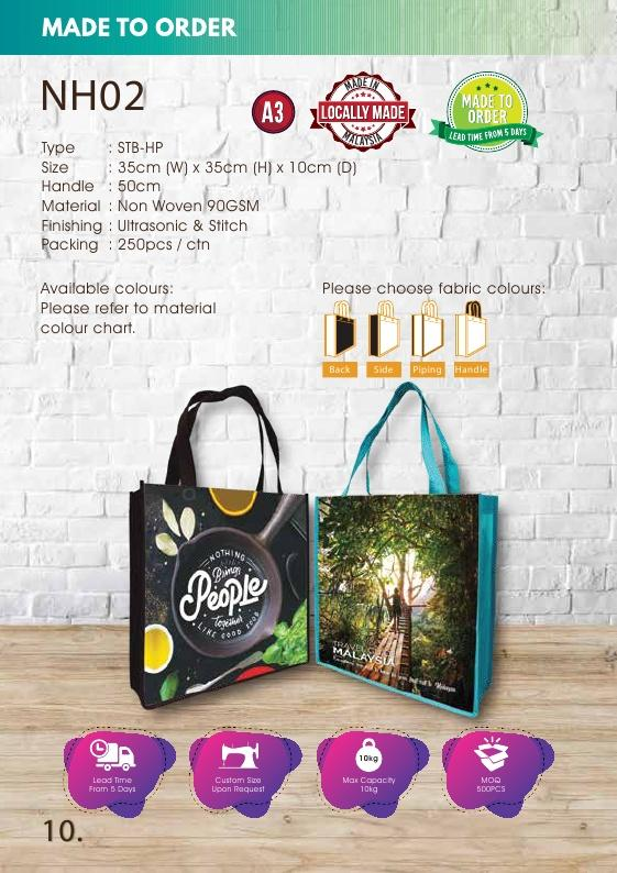 Included Printing | Custom Made | Non Woven 90gsm | Stitch | A3 Size | Sublimation | - EWC WAWASAN ENTERPRISE