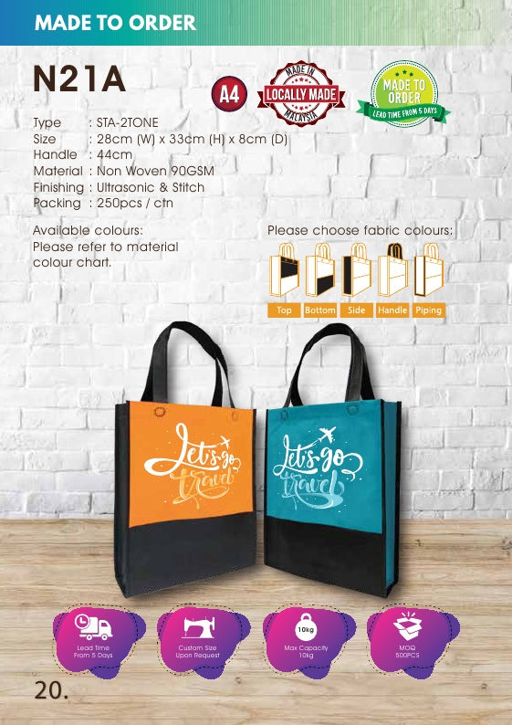 Included Printing | Custom Made | Non Woven 90gsm | Stitch | A4 Size | 2 Ply | - EWC WAWASAN ENTERPRISE