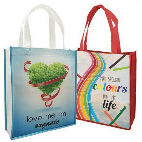 non woven stitch bag a4 size 90 gsm - Full Color Print