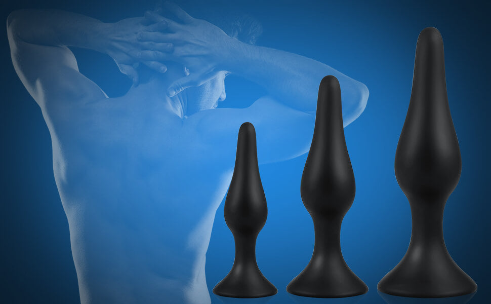 Utimi-Anal-Plug-Set-Medical-Grade-Butt-Plug-Silicone-Anal-Toys-for-Relaxation,-Ideal-for-Anal-Play,-Powerful-Suction-Cup-Black-3-Pcs-A-1