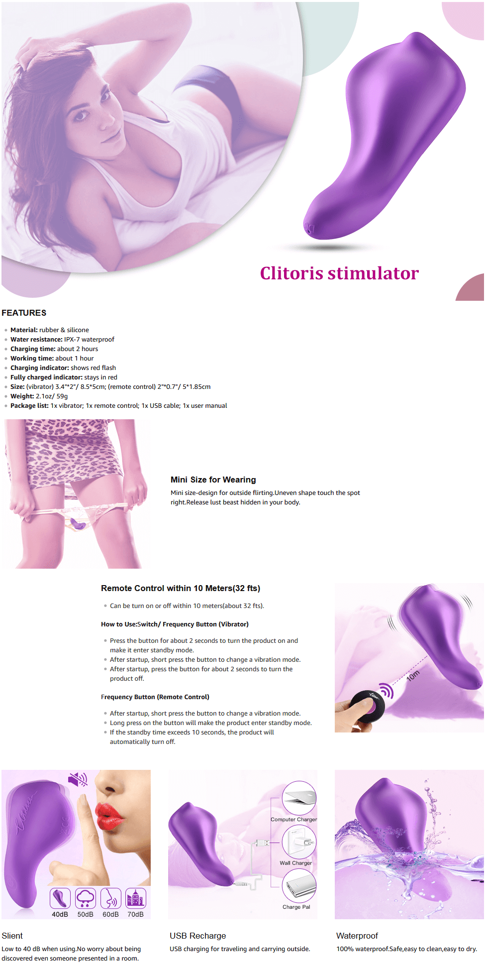 Utimi-Powerful-Vibrator-Rechargeable-Clitoris