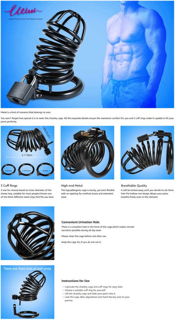 Utimi-Deluxe-Male-Chastity-Metal-Cock-Cage