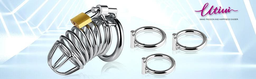 Utimi-Triple-Cock-Rings-1.5Inch-1.75Inch-2Inch-Chastity-with-Lock-Male-Sex-Toys-A-1