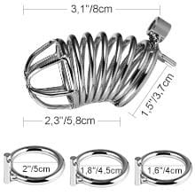 Utimi-Triple-Cock-Rings-1.5Inch-1.75Inch-2Inch-Chastity-with-Lock-Male-Sex-Toys-A-4