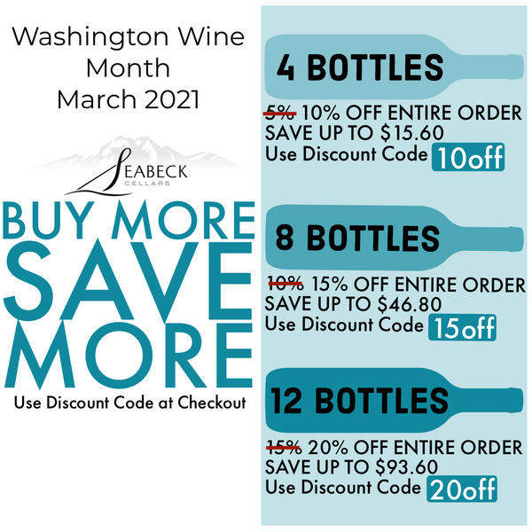Buy More Save More Washington Wine Month March 2021
