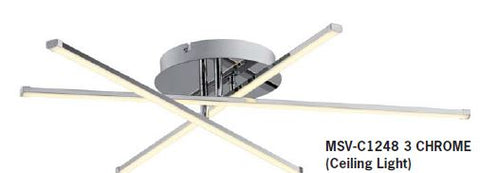 MSV-C1248 3 CHROME (Ceiling Light)- Delight Singapore