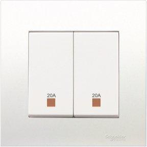 S6 Electrical Supplies Schneider 20A 250V 2G Double Pole Switch