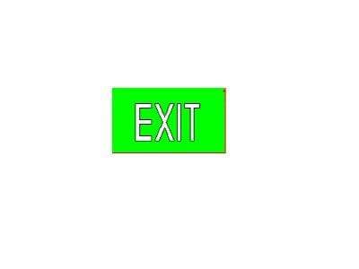 SELS EXIT/Emergency Exit Sign Type M SELS Weather Proof Surface Mounted Exit Sign (SELS-1230-WP) | Delight.com.sg