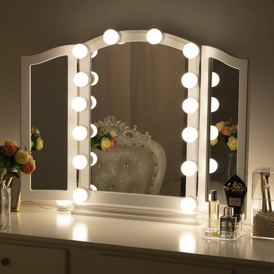 Hollywood LED Vanity Mirror Lights with Dimmable Light Bulbs, Chende Lighting Fixture Strip for Makeup