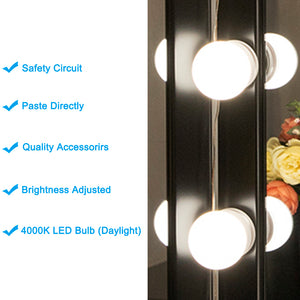Chende Hollywood Style LED Vanity Mirror Lights Kit with Dimmer, Wall Lighting Fxture for Makeup